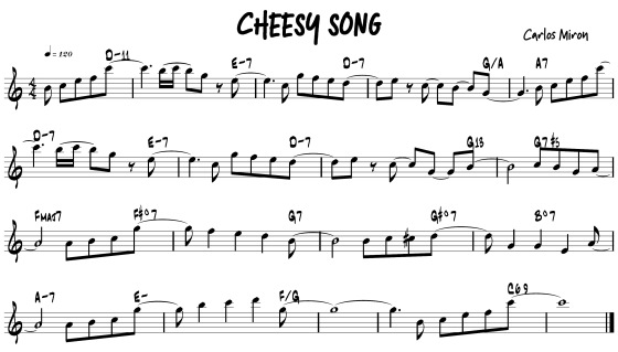 cheesy song w chords